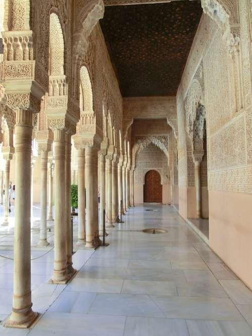 Alhambra Nasridenpalast Spain Andalusia Granada