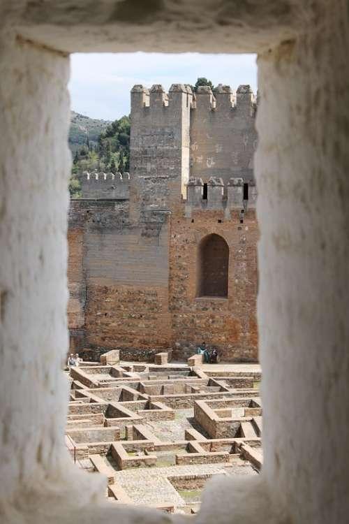 Alhambra Spain Granada Window Andalusia Palace