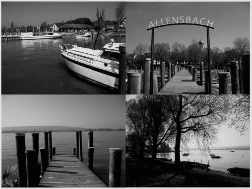 Allensbach Lake Constance Germany Port Web Ship
