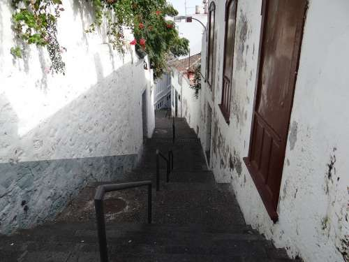 Alley Away Historic Center Spain Facade Stairs