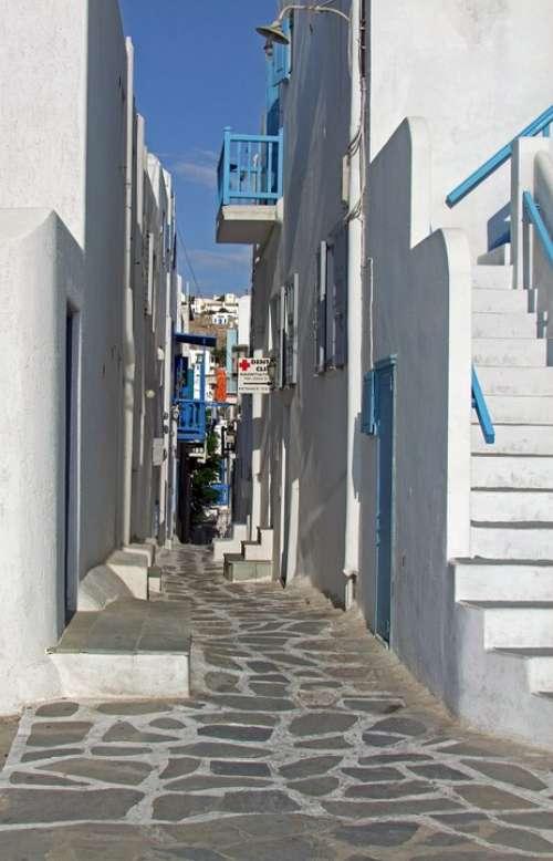 Alley Mykonos Greece Cyclades Greek Island White