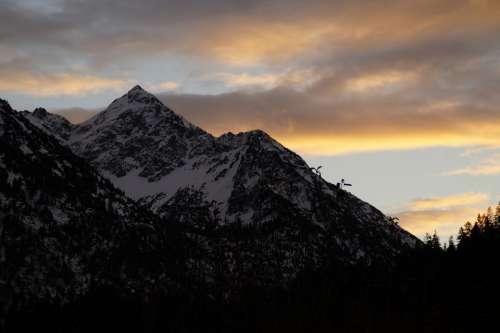 Allgäu Alpine Mountains Abendstimmung Red Top