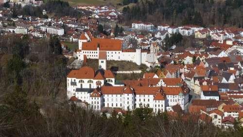Allgäu Füssen Of The Calvary Panorama Old Town