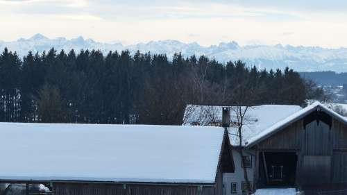 Allgäu Winter Snow Panorama Hair Dryer Edelsberg