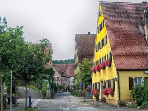 Almannsdorf Bavaria Germany Town Urban Buildings