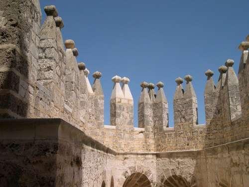 Almeria Andalusia Spain Castle Velez Battlements