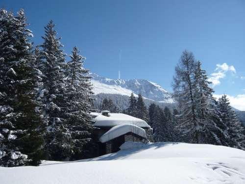 Alpine Mountain Switzerland Nature Sky Graubünden