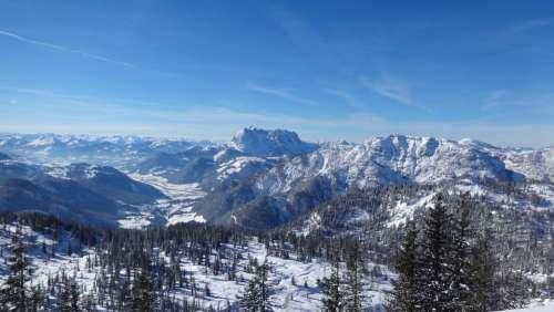 Alpine Panorama Austria Winter Steinplatte