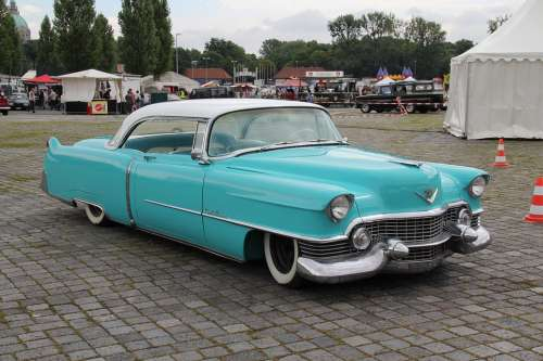 American Car Oldtimer Classic Turquoise Automotive