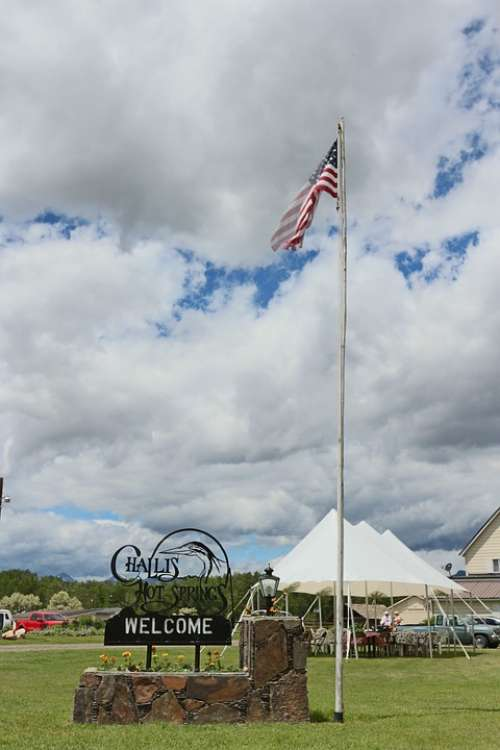 American Flag Flag Patriotism Farm Independence