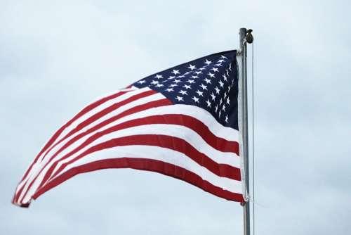 American Flag Patriotism Wave Sky American Flag