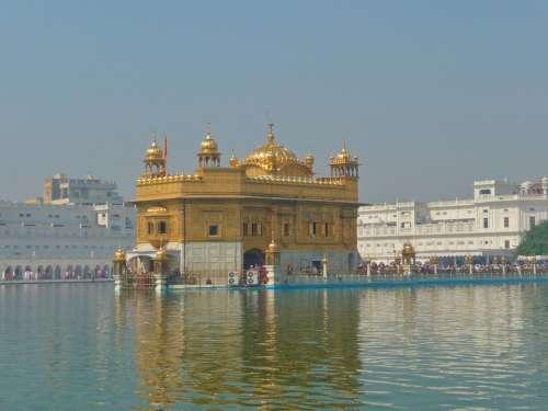 Amritsar India Temple City People Faithful