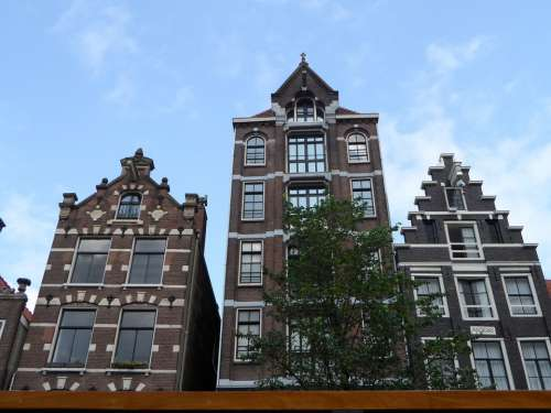 Amsterdam City Townhouses Buildings Monuments