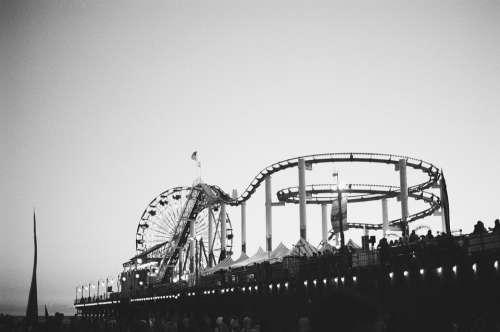 Amusement Park Roller Coaster Fun Ride Entertainment