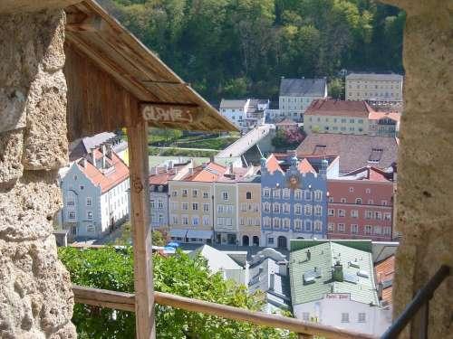 Ancient Times Burghausen Castle Historical City