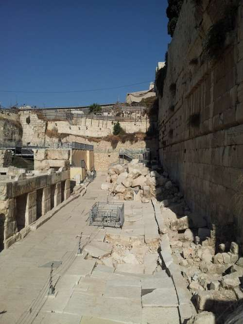 Ancient Walls Of Jerusalem City Of David Israel