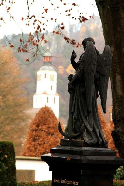 Angel Statue Cemetery Blaubeuren Mourning