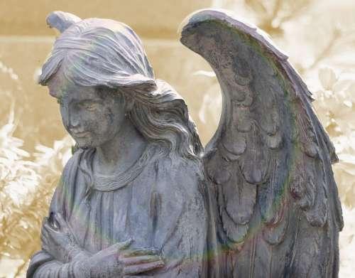 Angel Figure Faith Sculpture