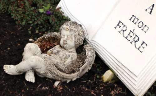 Angel Figure Book Sleeping Stone Figure