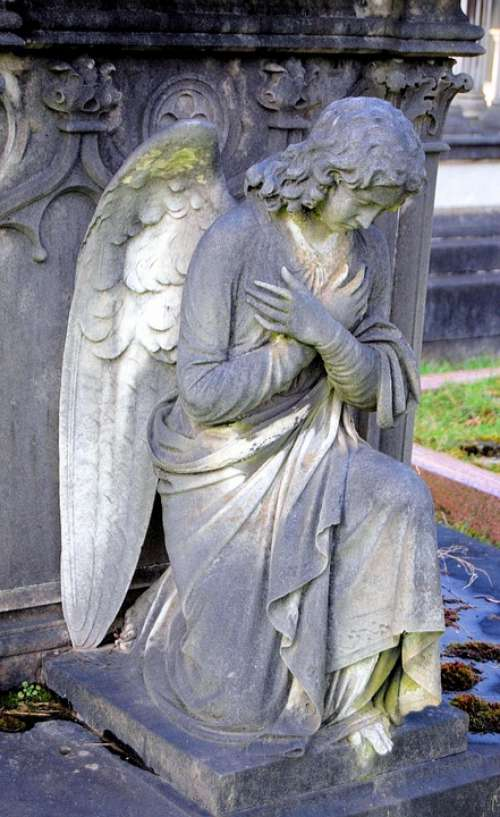 Angel Tomb Cemetery Tombstone Grave Sculpture