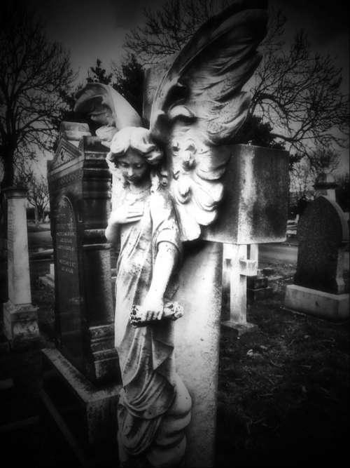 Angel Headstone Statue Grave Stone Cemetery