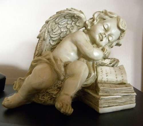 Angel Marble Figure Stone Figure Sleeping