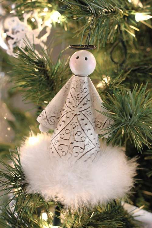 Angel Christmas Tree Holiday Religion Decoration