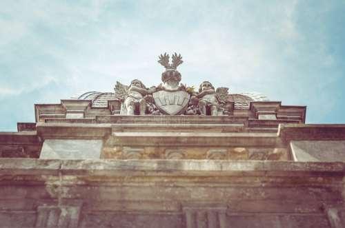 Angel Roman Architecture Building Sculpture Roof