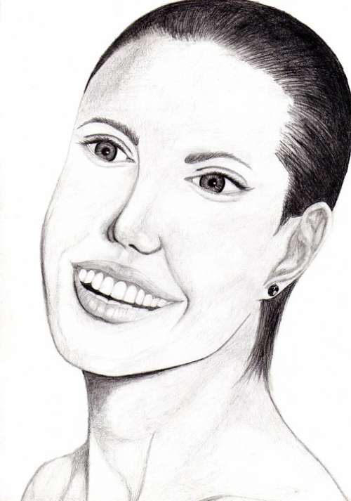 Angelina Jolie Drawing Art