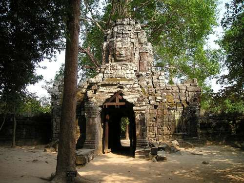 Angkor Wat Cambodia Overgrown Jungle Temple