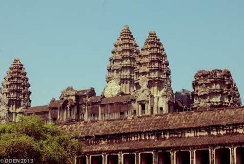 Angkor Wat Siem Reap Cambodia Statue Smile Nice