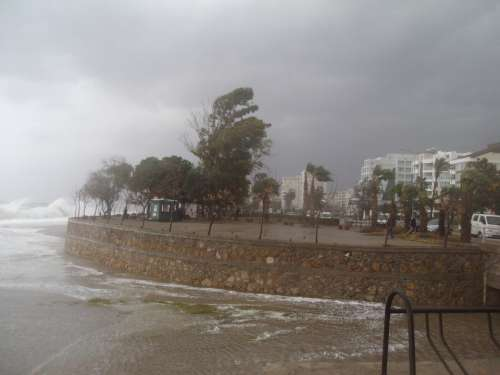 Antalya Storm Winter