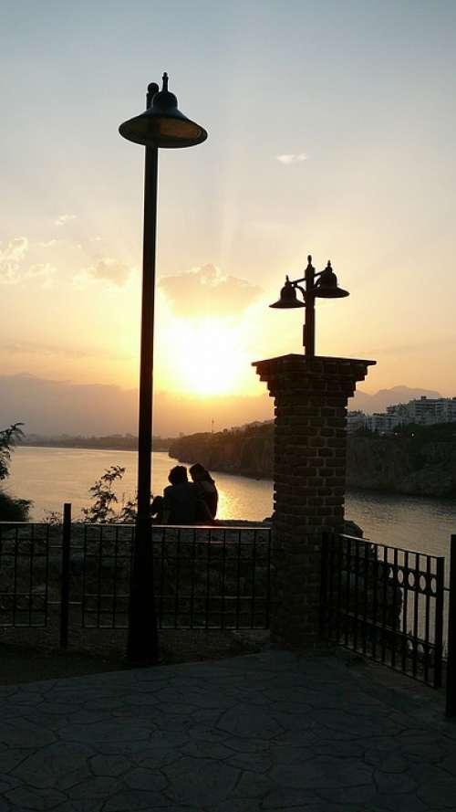 Antalya Lovers Sunset Sea Ocean