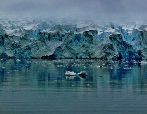 Antarctica Glacier Sea Ocean Water Winter Snow