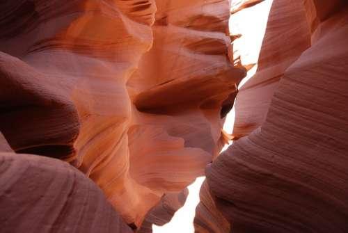 Antelope Canyon Arizona Usa Canyon Gorge Rock