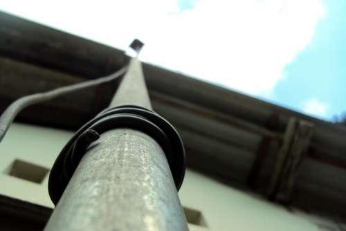 Antenna Pole Pole Wire Macro Effect Bird Eye