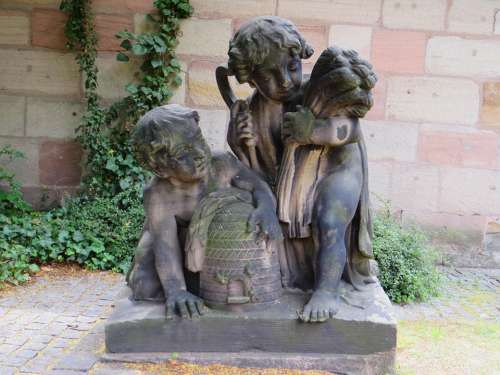 Antique Sculpture Stone Figure Statues