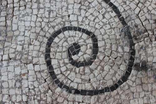 Antique Mosaic Rome Vestige Archaeology