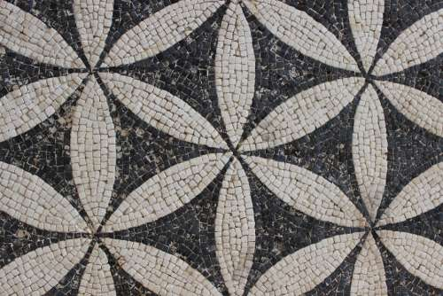 Antique Mosaic Rome Vestige Archaeology