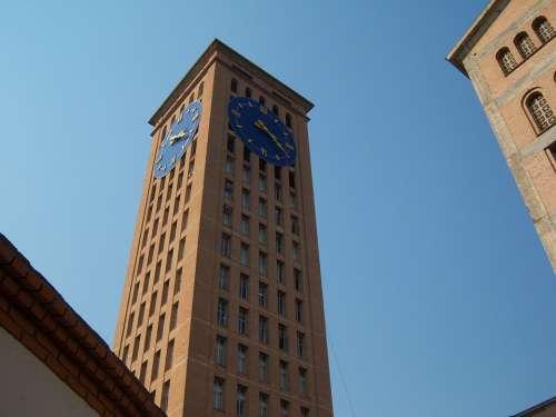 Aparecida Do Norte Clock Tower Basilica Blue Sky