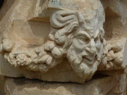 Aphrodisias Head Face Turkey Excavation Antique