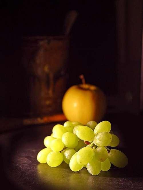 Apple Fruit Grapes Fruits Plants Flora