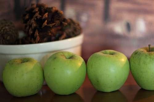 Apples Fall Harvest Autumn Food Nature Seasonal