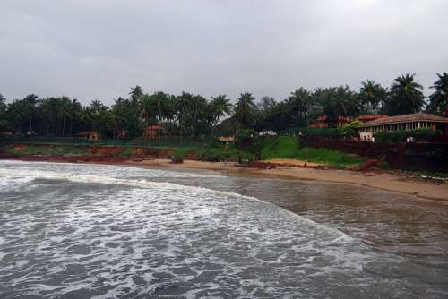 Arabian Sea Stormy Beach Goa India