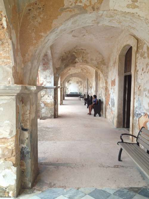 Arcade Arches Old San Juan Puerto Rico