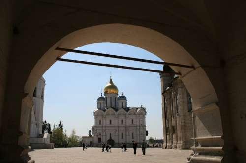 Arch Entrance Kremlin Tourists