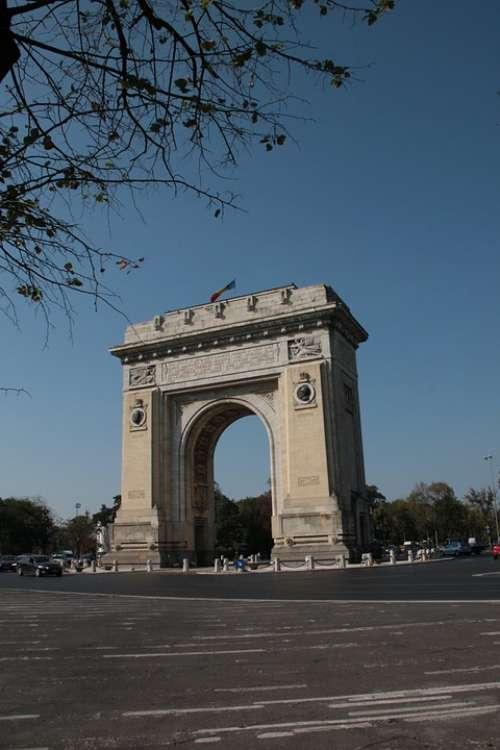 Arch Triumph Bucharest Romania Architecture
