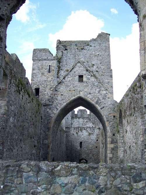 Arches Castle Stone Historical Tourism Vintage