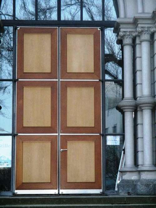 Architecture Input Door Wood Columnar Church