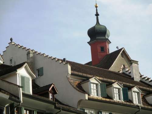 Architecture Historic Center Tower Onion Dome Roofs